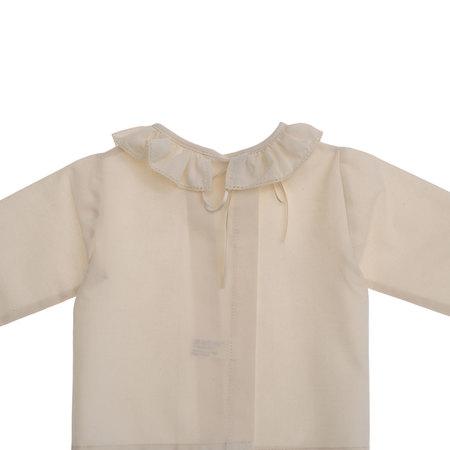 後ろ開きフリル襟付き長袖スモック ベビー 赤ちゃん 肌着 BB09044