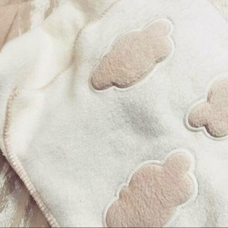 雲柄毛布/おくるみ風 ポケット付き TB05002