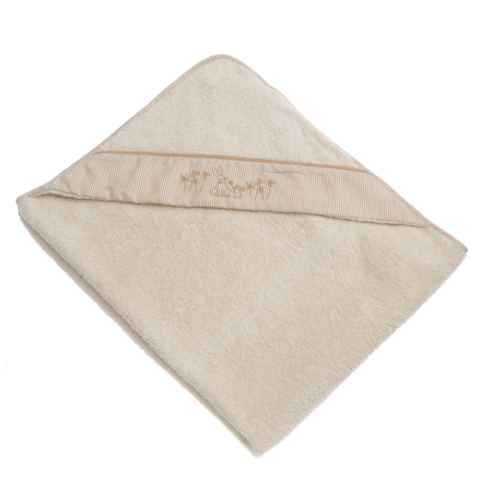 うさぎのフード付きバスタオル(おくるみ)