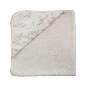 プリント布フード付きバスタオル(おくるみ)