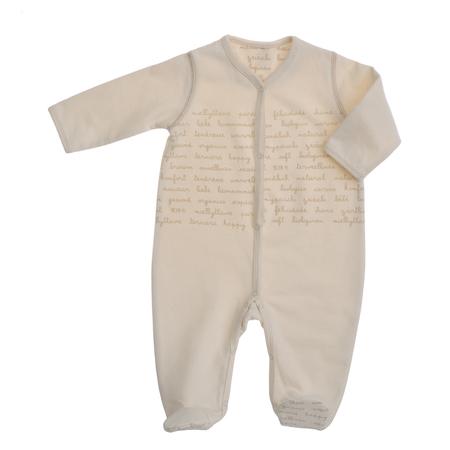 英字柄長袖足つきカバーオール  ベビー 赤ちゃん 肌着 BB08017